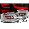 Audi A6 C6 (04-08) LED aizmugurējie lukturi, hromēti, 6 PIN