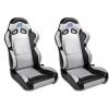 """Krēsls """"Spacelook carbon"""", sudraba/melns, regulējams, labais + kreisais"""