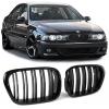 BMW E39 priekšējās restes, melnas, glancētas