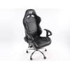 Biroja krēsls ar roku balstiem, ādas imitācijas, melns