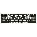 Licence plate holder, black, TuningParts.LV