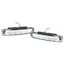 LED dienas gaitas lukturi, 5 diodes, 185x30x25mm, hromēti