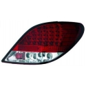 Peugeot 207 (06-12) aizmugurējie LED lukturi, sarkani