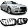 BMW F06 / F12 / F13 priekšējās restes, melnas glancētas