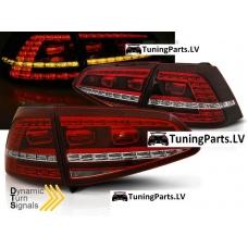 VW Golf 7 aizmugurējie LED lukturi GTI Look, dinamisks pagriezienu rādītajs