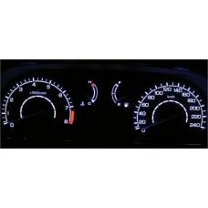 Honda CRX (90-92) plazmas spidometri 0-240km/h, melni