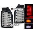 VW T5 (03-15) aizmugurējie LED lukturi, melni / hromēti