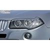 BMW X3 E83 priekšējo lukturu uzlikas, melnas
