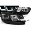 VW Golf 6 priekšējie LED dayline lukturi, R87, melni, black line