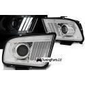 Ford Mustang (05-09) priekšējie LED lukturi, hromēti