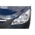 Hyundai I10  headlight eyebrows, black
