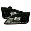 Ford Focus (04-08) priekšējie LED Dayline lukturi, DRL, melni