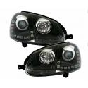 VW Golf 5 LED Dayline headlights, black