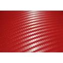 Real carbon look self-adhesive 3D film red, 1.5x1m