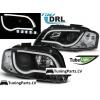 Audi A3 8P (03-08) priekšējie LED Dayline lukturi, melni, DRL