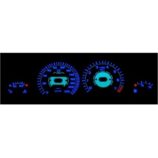 Opel Corsa B; Tigra plazmas spidometri 0-220km/h, 7000 RPM, balti