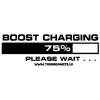 Auto uzlīme - Boost charging - balta, 20x7cm