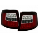 Audi A6 C5 (97-04) avant LED tail lights, red & clear