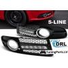 Audi A4 B7 S-Line (04-08) LED dienas gaitas lukturi, melni, DRL