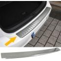 BMW X6 E71 E72 (08-...) aizmugures bampera aizsargs, sudraba