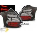 Ford Focus 3 (11-14) Hatchback aizmugurējie LED lukturi, melni, dinamisks pagriezienu rādītajs