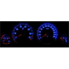 Opel Astra G; Zafira A plazmas spidometri 0-240km/h, 7000 RPM, balti