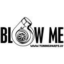 Car sticker - Blow me - white, 20x10cm