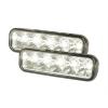 LED Dayline lukturi, 5 HIPOWERLED diodes, 147x45x56mm, hromēti