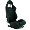 """Krēsls """"Monza blast carbon"""", melns, regulējams + sliedes"""