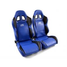 """Krēsls """"Houston"""", zils/melns, regulējams + sliedes, labais + kreisais"""