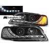 Volvo S40/V40 (95-00) LED Dayline priekšējie lukturi + LED pagriezieni, melni