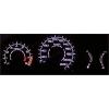 Honda Civic (95-01) plazmas spidometri 0-220km/h, melni