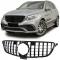 Mercedes GLE W166 (15-...) priekšējā reste, melna/glancēta