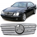 Mercedes CLK W208 Coupe / Cabrio (97-02) priekšējā reste, sudraba / hromēta