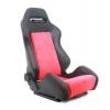 Krēsls R-LOOK, melns/sarkans, + sliedes