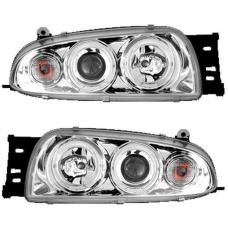 Ford Fiesta (95-99) priekšējie lukturi, eņģeļ acis, hromēti