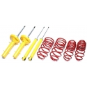 Audi A3/ Seat Leon + Toledo / VW Golf IV+Bora / New Beetle TA Technix amortizatori + atsperes, sēdinājums 40/40mm