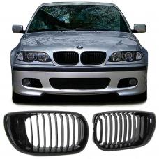 BMW E46 sedana/touringa (01-05) priekšējās restes, melnas/glancētas