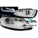 VW Jeta (11-...) head lights, LED dayline, chrome