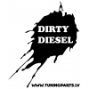 Auto uzlīme - Dirty diesel - balta, 15x18cm