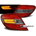Mercedes Benz W204 C-class (07-10) tail lights, red & clear LED turn light smoke