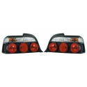 BMW E36 sedan tail lights, black
