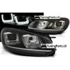 VW Golf 6 priekšējie LED dayline lukturi, R87, melni, Chrome line