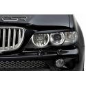 BMW X5 E53 headlight eyebrows, black