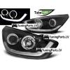 Hyundai iX35 (10-13) priekšējie LED Dayline lukturi, melni, eņģeļacis