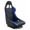 Krēsls Monza, melns/zils, + sliedes, āda