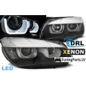 BMW X1 E84 (12-14) head lights, LED dayline, R87, black XENON