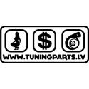 Car sticker - Girl, $, Turbo - white, 20x9cm