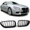 BMW F06 / F12 / F13 (11-...) priekšējās restes, melnas matētas