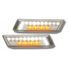 BMW E36 (91-96); E34; E32 LED sānu pagriezienu rādītāji + LED gabarīti, hromēti